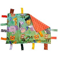 Satin 14x18 Jungle Safari Lovey With Ribbon Tabs