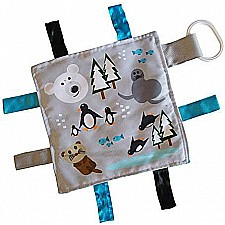 8x8 Polar Animals Crinkle Sensory Toy