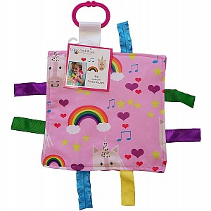 8x8 Unicorn And Rainbows Crinkle Sensory Toy