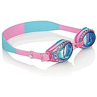Swimming Goggles For Girls - New Glitter Classic Kids Swim Goggles By Bling2o (Peppermint Pat Pink)