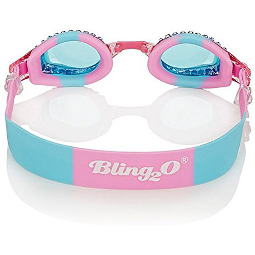 372c9f2f83ed Swimming Goggles For Girls - New Glitter Classic Kids Swim Goggles By  Bling2o (Peppermint Pat