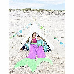 Blankie Tails Mermaid Tail Blanket (Ages 3-12) (Purple/Seafoam)