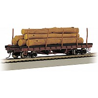 ACF 40' Log Car With Logs (1906-1935)