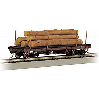 ACF 40' Log Car With Logs (1935-1960)