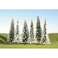 "3""- 4"" Pine Trees With Snow (9 Per Box)"