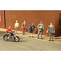 City People With Motorcycle (7Pcs/Pk)
