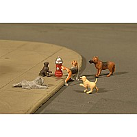 Dogs With Fire Hydrant (6Pcs/Pk)