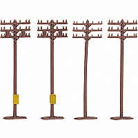 Telephone Poles (12 Pcs.)
