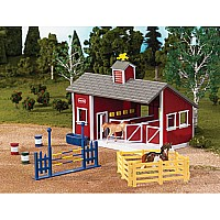 Red Stable Set with Two Horses