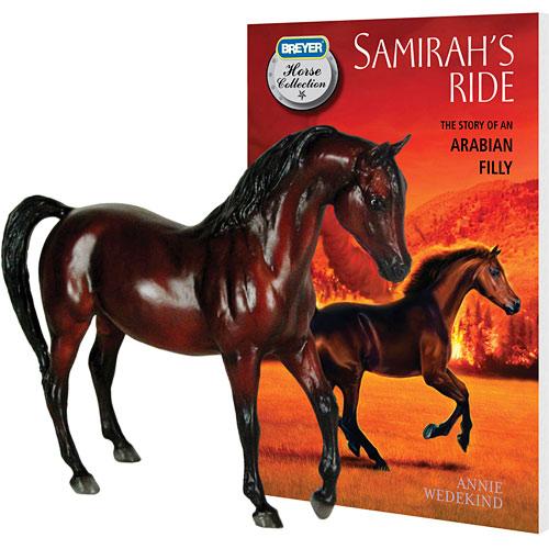 breyer 6139 samirah horse and book set   breyer tradtional