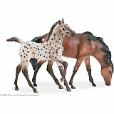 Colorful Foals Gift Set - Bay Leopard and Dun
