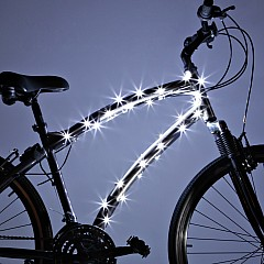 Brightz, Ltd. White Cosmic Brightz LED Bicycle Frame Light