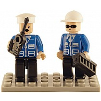2 Mini-figurines Police