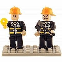 2 Mini-figurines Fire Brigade