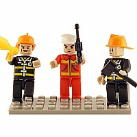 3 Mini-figurines Fire Brigade
