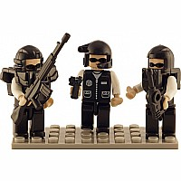 3 Mini-figurines Police SWAT TEAM