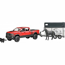 RAM 2500 Pickup Truck w Horse Trailer and Horse