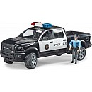 Bruder 02505 Police Ram 2500 w/ Policeman and Light & Sound Module