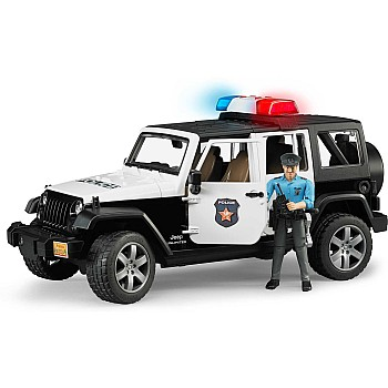 Jeep Wrangler Unlimited Rubicon Police vehicle with policeman