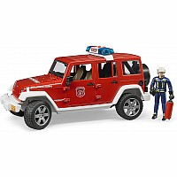 Jeep Rubicon fire vehicle w fireman