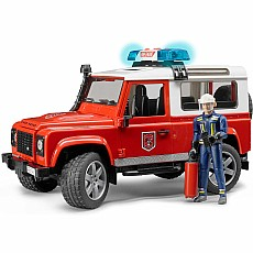Land Rover Defender Station Wagon Fire Department Vehicle w/ Light & Sound and Fireman