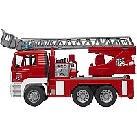 Bruder MAN Fire engine with ladder, water pump and Light & SoundModule
