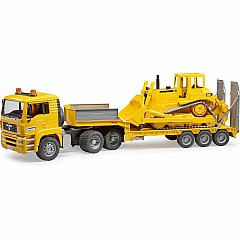 Bruder TGA Low Loader truck w CAT Bulldozer