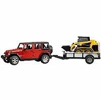 Jeep Wrangler Unlimited Rubicon w. trailer and CAT skid steer