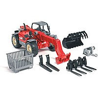 Bruder Manitou Telescopic Loader Mlt 633 With Accessories