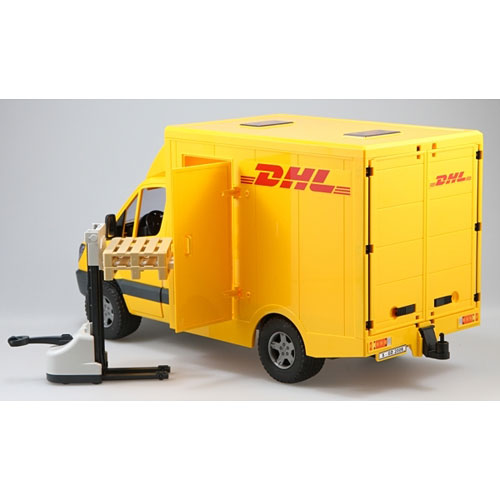 Dhl Pickup Locations >> Mercedes Benz Sprinter DHL Truck with Hand Pallet Jack - Toy Sense