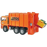 Man Rear Loading Garbage Truck (orange)