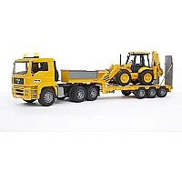 Bruder Man Tga Low Loader With Jcb Backhoe Loader