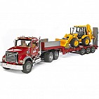 Flatbed Truck With Loader Backhoe
