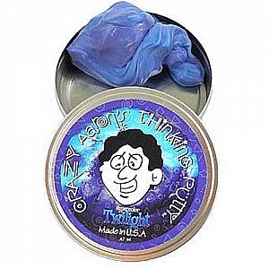 Crazy Aaron Thinking Putty - Hyper Color - 2 inch - Twilight