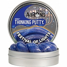 "Festival of Lights 4"" Cosmic Glow Thinking Putty"