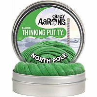 "Crazy Aaron's Thinking Putty North Pole Magnetic Putty 4"" Tin"