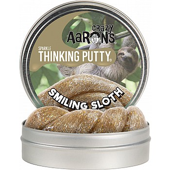 Crazy Aaron's Sparkle Thinking Putty Smiling Sloth