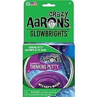 "CRAZY AARON'S Wizard's Wand 4"" Glow-in-the-Dark Thinking Putty"