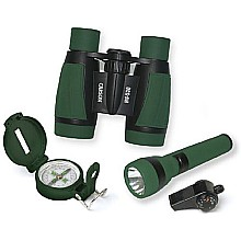 Carson AdventurePak Containing 5x30 Binocular, Lensatic Compass, Flashlight, and Whistle/Thermometer (HU-401)