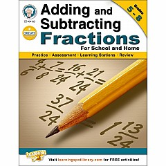 Adding And Subtracting Fractions For School And Home (5 - 8) Book