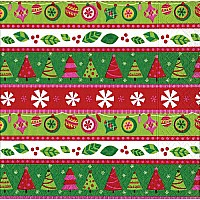 Entertaining with Caspari Cocktail Napkins, Calico Christmas, 20-Pack