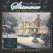 750 Piece Thomas Kinkade Shimmer  Victorian Christmas (out of pr