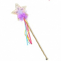 Glitter Rainbow Wand (multi Pastel Gold)