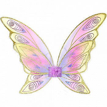 Glitter Rainbow Wings (multi Pastel Gold, OS