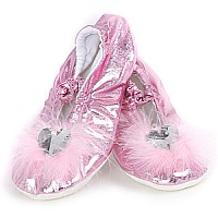 Princess Slippers - pink, size med