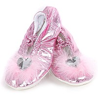 Princess Slippers, Pink, Lg