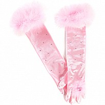 Princess Gloves (pink, OS