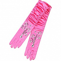 Princess SEQUINS Gloves (dark Pink, OS
