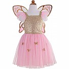 Gold Butterfly Dress with Fairy Wings - Size 5-7
