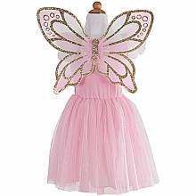Gold Butterfly Dress with Fairy Wings